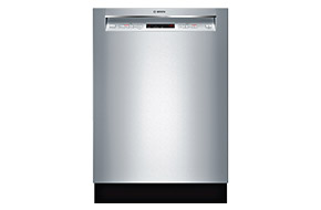 Shop Bosch 24 300 Series Recessed Handle Stainless Steel Built-In Dishwasher