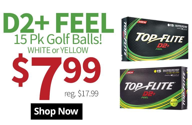 Top-Flite D2+ Feel 15 Pack Golf Balls Sale