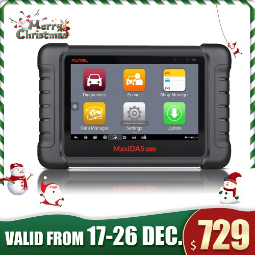 (EU,UK Ship No Tax) AUTEL MaxiDAS DS808 Kit Android Tablet Diagnostic Tool Full Set Supports Online Update with Injector Coding/Key Coding