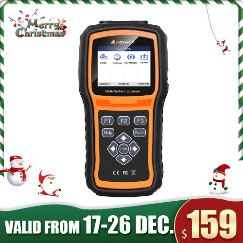 [Xmas Sale] (UK,US Ship, No Tax) Foxwell NT530 Full-System OBD2 Diagnostic Scanner More License than NT520 Pro