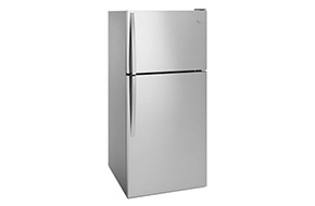 Shop Whirlpool Monochromatic Stainless Steel Top-Freezer Refrigerator