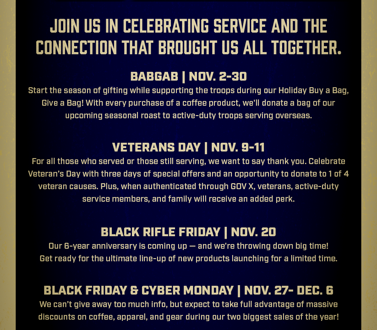 Join Us in Celebrating Service and the Connection that Brought Us All Together