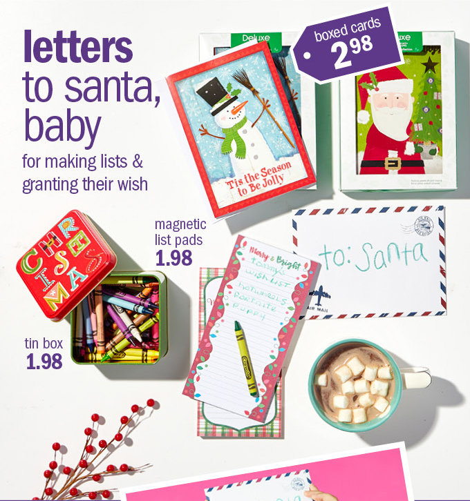 Letters to santa, baby