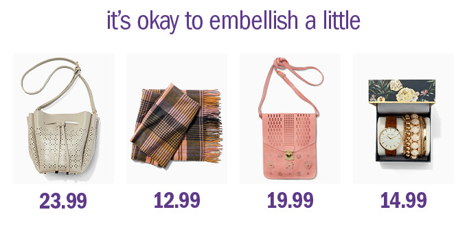 It's okay to embellish a little
