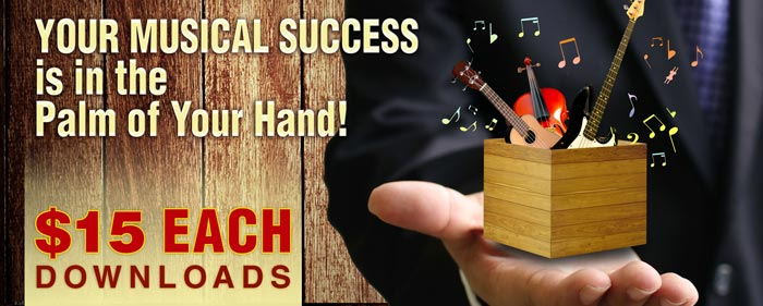 Your Musical Success is in the Palm of Your Hand - $15 for each of these dowloads
