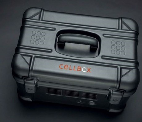 Image: CellBox for temperature- and CO2-controlled live cell transport