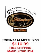 Stromberg Metal Sign