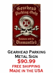 Gearhead Parking Metal Sign
