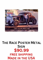 The Race Poster Metal Sign