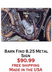 Barn Find 8.25 Metal Sign
