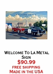 Welcome To La Metal Sign