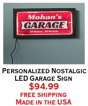 Personalized Nostalgic LED Garage Sign