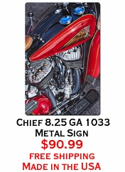 Chief 8.25 GA 1033 Metal Sign