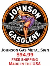 Johnson Gas Metal Sign