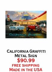 California Graffiti Metal Sign