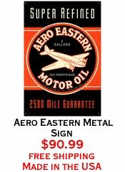 Aero Eastern Metal Sign