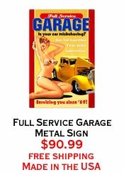 Full Service Garage Metal Sign