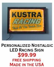Personalized Nostalgic LED Racing Sign