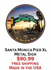 Santa Monica Pier Xl Metal Sign