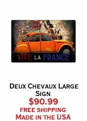 Deux Chevaux Large Sign