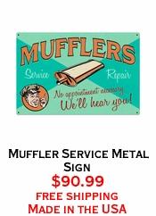 Muffler Service Metal Sign