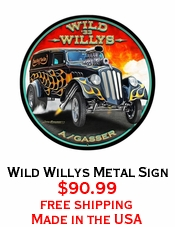 Wild Willys Metal Sign