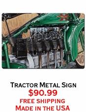 Tractor Metal Sign