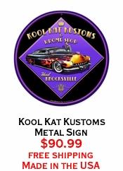 Kool Kat Kustoms Metal Sign