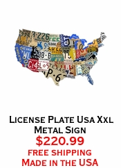 License Plate Usa Xxl Metal Sign