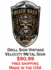 Grill Sign Vintage Velocity Metal Sign