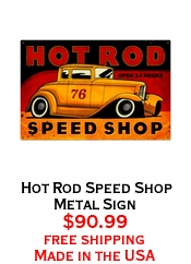 Hot Rod Speed Shop Metal Sign