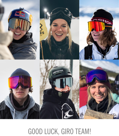 Head shots of the Giro Team Athletes who are competing in the X-Games