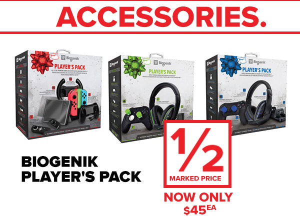 Biogenik player packs!