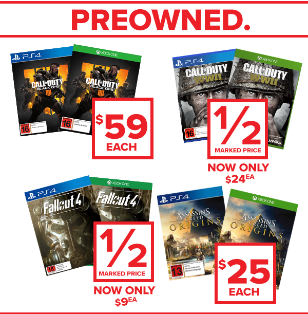 Preowned games!