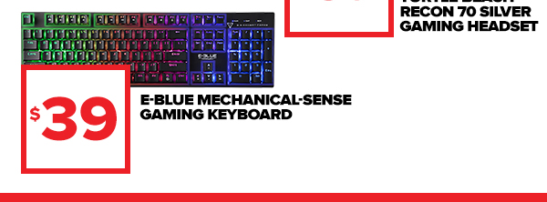 Shop E-Blue Mechanical sense gaming keyboard at $39!