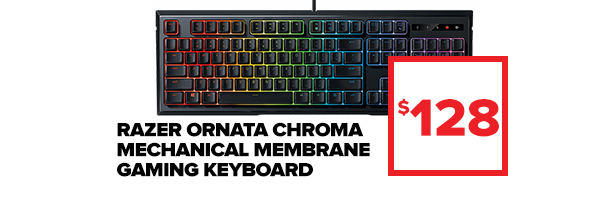 Razer Ornata Chroma Mechanical Membrane Gaming Keyboard at $128