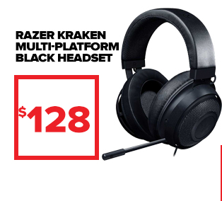Razer Kraken Multi-Platform Black Headset at $128.