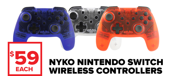 Shop Nintendo Switch Nyko controllers.