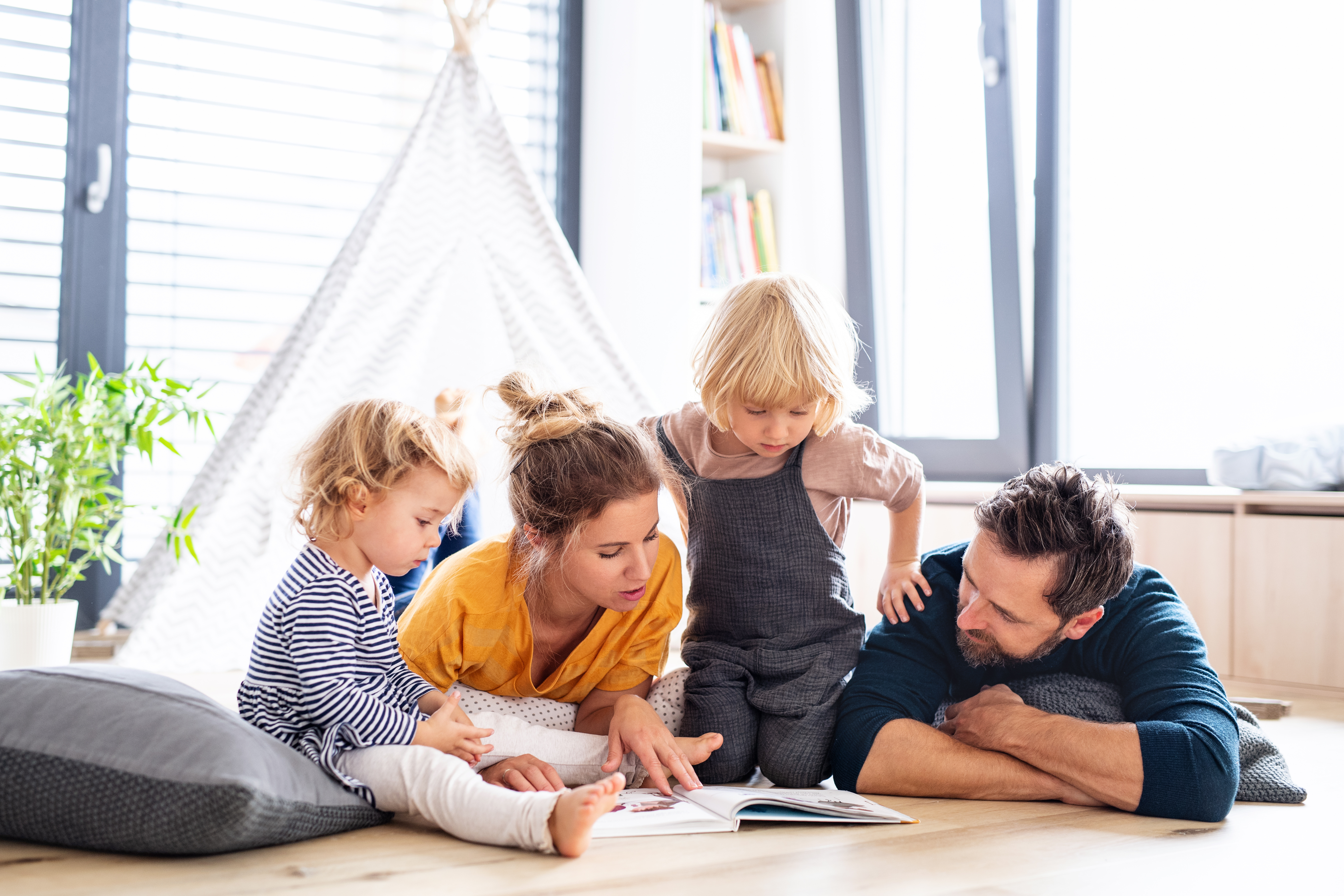 Comfortable Family Reading