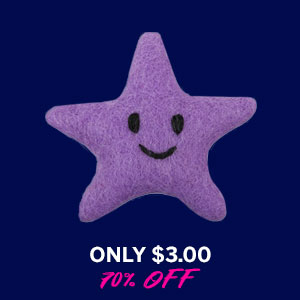 Wooly Wonkz Under The Sea Cat Toy - Starfish