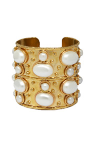 Byzance White Pearl Cuff