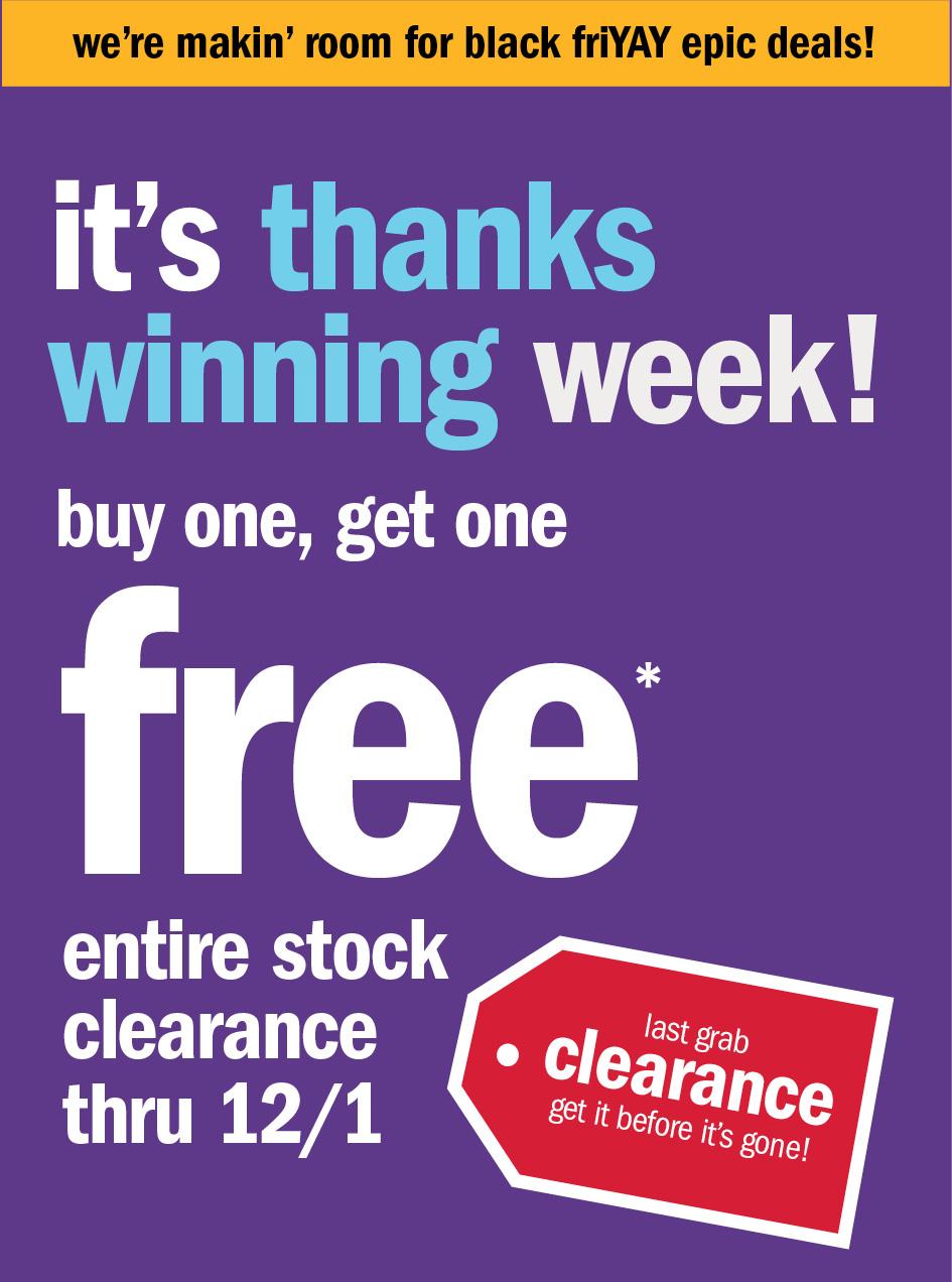 It's thanks winning week!
