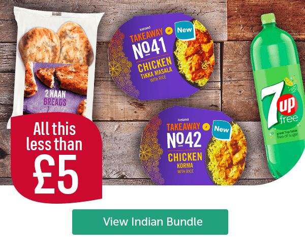 All this less than �Naan Breads 2 Pack Iceland Takeaway Chicken Tikka Masala With Rice Iceland Takeaway Chicken Korma With Rice 7up View Indian Bundle
