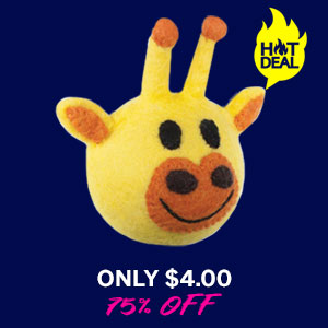 Wooly Wonkz Safari Dog Toy - Giraffe