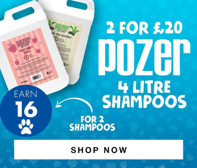 2 Pozer 4 Litre Shampoos for ?20