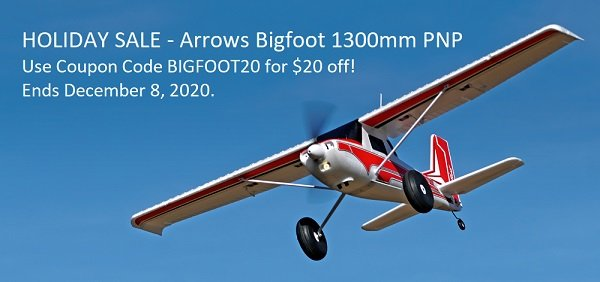 Arrows RC Bigfoot | Use coupon code BIGFOOT20 for $20 off.
