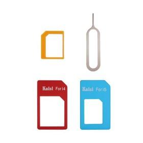 Kaisi 4 in 1 Sim Card Converter Adapter Kit Sim Card Slot Set