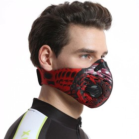 Outdoor Camouflage Dustproof Sports Mask Red