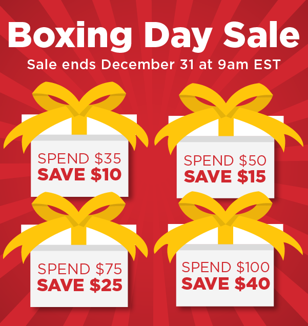 Save up to $40 off from now until December 31 at 9am EST!
