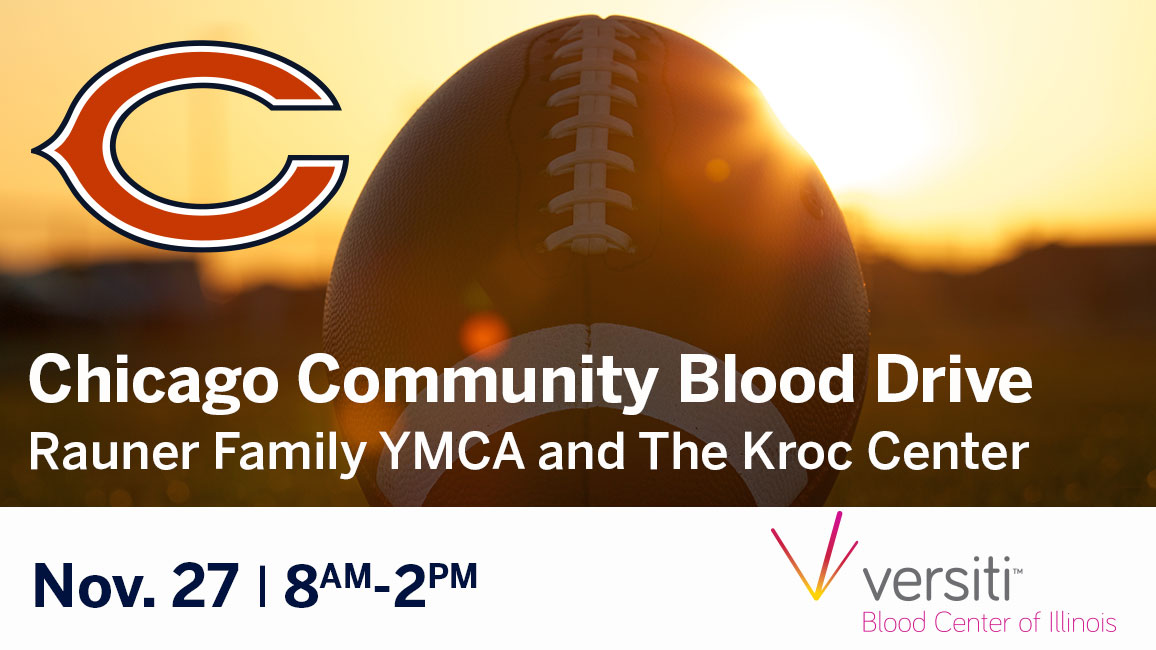 Chicago Bears Thanksgiving Blood Drive